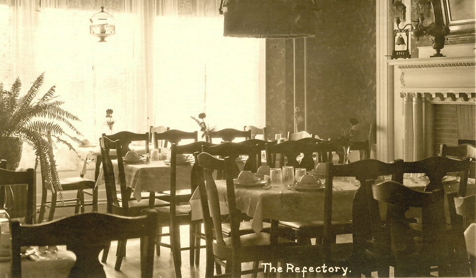 A black and white photo of the Morrison House Dining Room