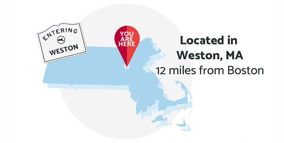 Regis College is located in Weston, MA - 12 miles from Boston