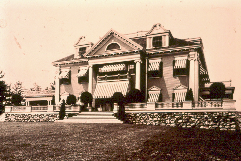 A black and white photo of Morrison House