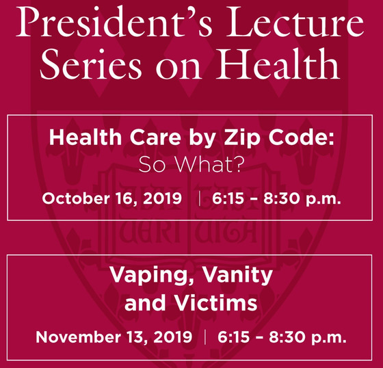 presidennt lecture series on health logo
