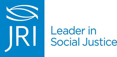 Justice Resource Institute logo with the text: JRI Leader in Social Justice