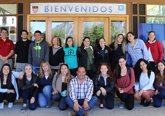 Regis Faculty and Students pose while on a service trip in Chile