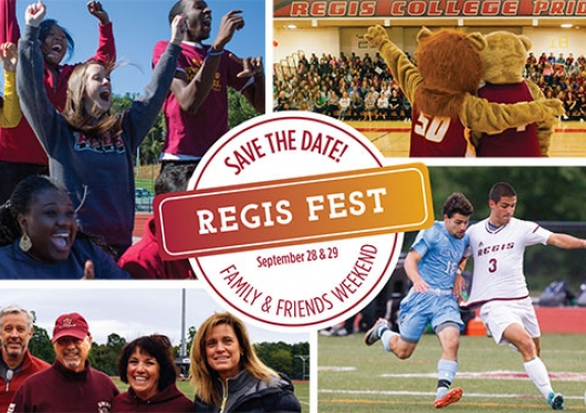 Save the date! Regis Fest September 28 and 29 Family and Friends Weekend