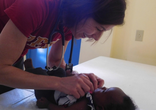 Nurse from Regis in Haiti