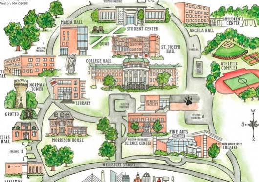 Regis Campus Map