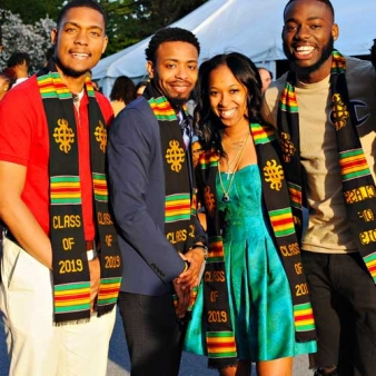 Regis College Students at Kente Stole 2019