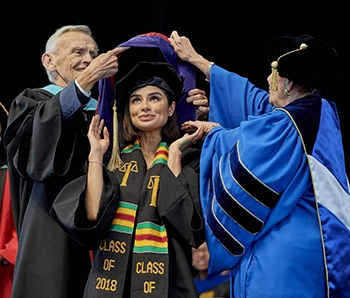 Diane Guerrero receives an honorary degree at Regis' 88th annual commencement