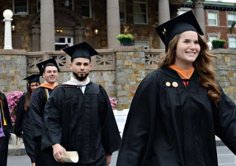 Regis College Students at Commencement