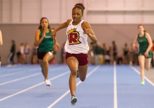 Female Runner Indoor Track and Field: Regis (Mass.)