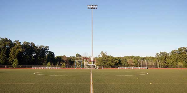 A photo of the Regis College athletic fields