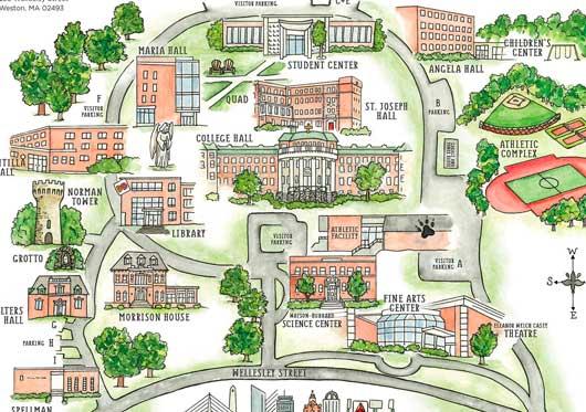 Getting To Campus Regis College